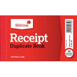 Silvine Receipt Book Duplicate