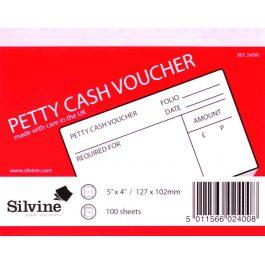 Silvine Petty Cash Pad With Cover