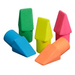 Swordfish Pencil Top Eraser Assorted Colours Pk 12
