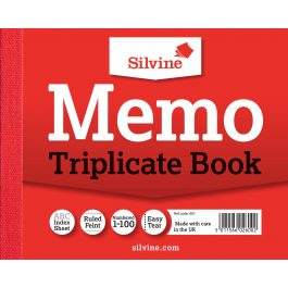 Silvine Triplicate Memo Book 4″ x 5″