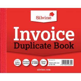 Silvine Duplicate Invoice Book 4″ x 5″