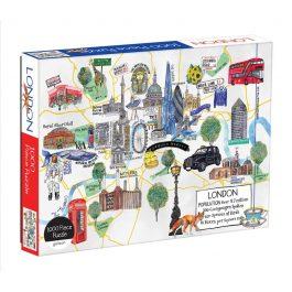 London Map Puzzle 1000 Piece Puzzle