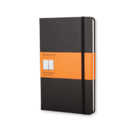 Moleskine Notebook Large A5 Ruled Black Hard Cover