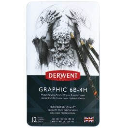 Derwent Graphic Pencils Medium Grades Pk 12