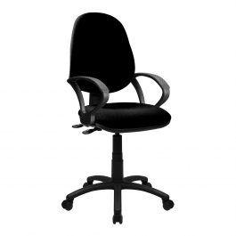 The Lisbon 200 Chair Black With Fixed Arms