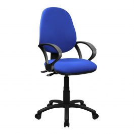 The Lisbon 200 Chair Blue With Fixed Arms