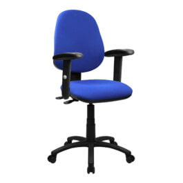 The Lisbon 200 Chair Blue With Adjustable Arms