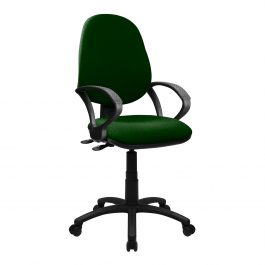 The Lisbon 200 Chair Green With Fixed Arms