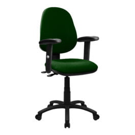 The Lisbon 200 Chair Green WIth Adjustable Arms