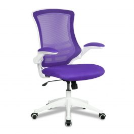 The Rome Mesh Operator's Chair Purple With White Base