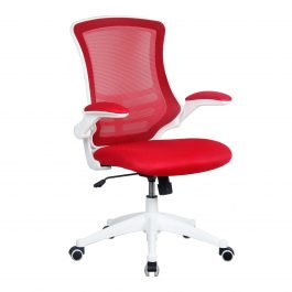 The Rome Mesh Operator's Chair Red With White Base