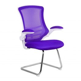 The Budapest Cantilever Chair Purple With White Frame