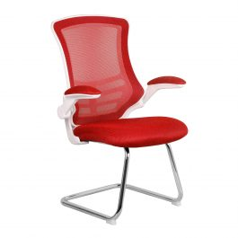 The Budapest Cantilever Chair Red With White Frame