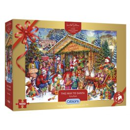 Gibsons Jigsaw Xmas Limited Edition This Way To Santa 1000 Piece Puzzle