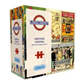 Gibsons Jigsaw TFL Heritage Posters 500 Piece Puzzle