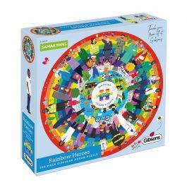 Gibsons Jigsaw Rainbow Heroes 500 Piece Circular Puzzle