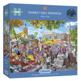 Gibsons Jigsaw Market Day Norwich 1000 Piece Puzzle