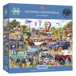Gibsons Jigsaw Motoring Memorabilia 1000 Piece Puzzle