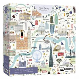 Gibsons Jigsaw Map of London 1000 Piece Puzzle