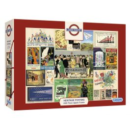 Gibsons Jigsaw TFL Heritage Posters 1000 Piece Puzzle