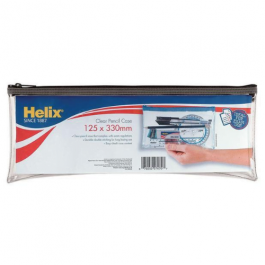 Helix Clear Pencil Case 13″ x 5″