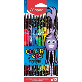 Maped Color Peps Monster Colouring Pencils Pk 12