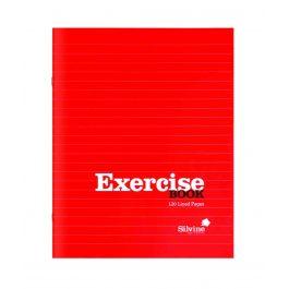 Silvine 8 x 6 Ruled Feint Exercise Book Gloss Red