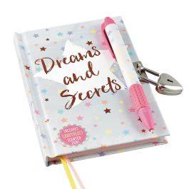 Floss & Rock Dreams & Secrets Lockable Notebook with Scented Pen