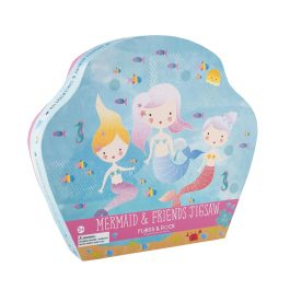 Floss & Rock Jigsaw in Shaped Box Mermaid & Friends 40 Piece Puzzle