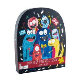 Floss & Rock Jigsaw in Shaped Box Monster Friends 40 Piece Puzzle