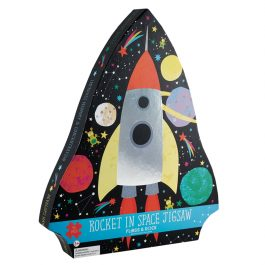 Floss & Rock Jigsaw in Shaped Box Rocket in Space 40 Piece Puzzle