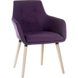 Teknik Four Legged Reception Chair Plum Pk 2