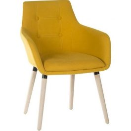 Teknik Four Legged Reception Chair Yellow Pk 2