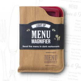 If Light Up Menu Magnifier In Pouch Wine