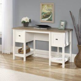 Teknik Shaker Style Desk Soft White