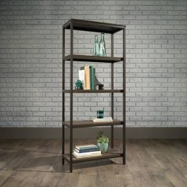 Teknik Industrial Style 4 Shelf Bookcase Smoked Oak