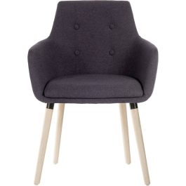 Teknik Four Legged Reception Chair Graphite Pk 2
