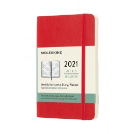 Moleskine 2021 Weekly 12 Month Pocket Horizontal Diary Soft Cover