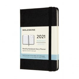 Moleskine 2021 Monthly Pocket Diary Black Hard Cover
