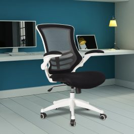 The Rome Mesh Operator's Chair Black With White Base