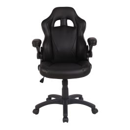 The Warsaw Gaming Chair Black with Black Trim