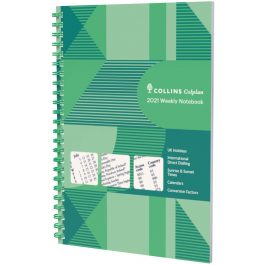 Collins 2021 Colplan A4 Weekly Notebook Diary Green