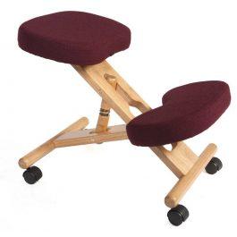Teknik Kneeling Chair Wood Burgundy