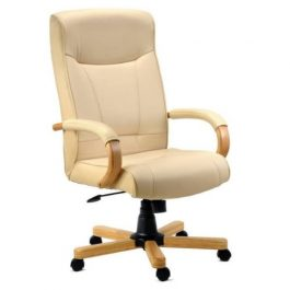 Teknik Knightsbridge Leather Executive Chair Cream