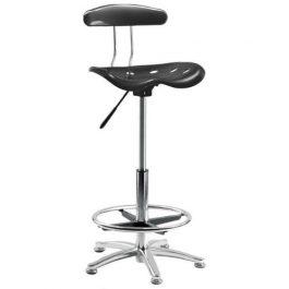 Teknik Tek Draughtsman's Chair Black