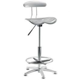 Teknik Tek Draughtsman's Chair Silver