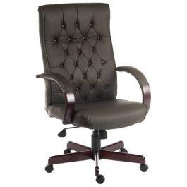 Teknik Warwick Leather Executive Chair Brown