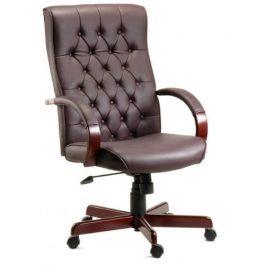 Teknik Warwick Leather Executive Chair Burgundy