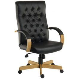 Teknik Warwick Leather Executive Chair Noir