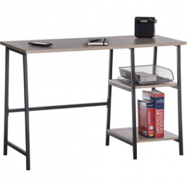 Teknik Industrial Style Bench Desk Charter Oak